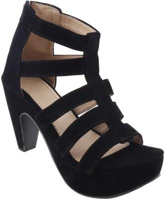 TWIN TOES Women Black Heels