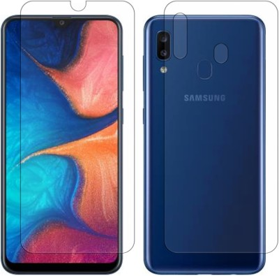 YOOX Front and Back Screen Guard for Samsung Galaxy A20(Pack of 2)