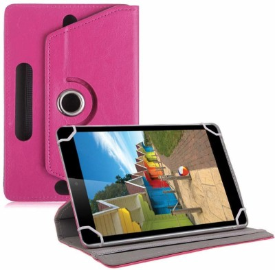 TGK Book Cover for iBall Slide 3G-i80 Tablet 8 inch(Pink, Cases with Holder)