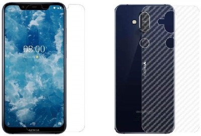 THOGAI Front and Back Screen Guard for Nokia 8.1(Pack of 2)