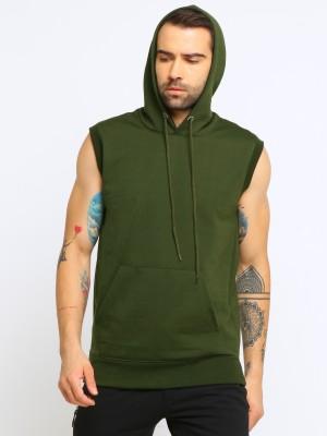 Maniac Sleeveless Solid Men Sweatshirt
