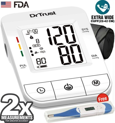 Dr. Trust (USA) Fully Automatic i-Check Digital Blood Pressure Checking Machine with MDI Technology Bp Monitor(White)
