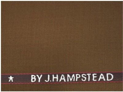 J. HAMPSTEAD Wool Solid Trouser Fabric(Unstitched)