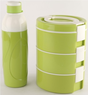 cello decker lunch combo green 3 Containers Lunch Box(1200 ml)