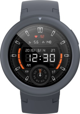 Huami Amazfit Verge Lite Smartwatch (Grey Strap, Regular)