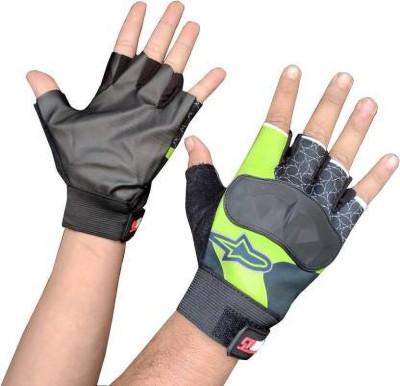 zaysoo Bike Gloves for Riding, Mountain Bike Half Finger Anti slip Gloves Gym & Fitness Gloves(Green)