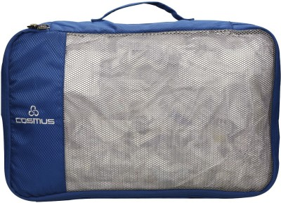 Cosmus Set of 4 Packing Cubes Travel Pouch Polyester Navy Bag Organiser(Blue)