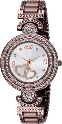 SHREENATH TRADERS SN-New Exclusive Brown Round Diamond Analog Watch  - For Women