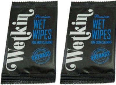WETKIN Premium Wet Wipe For Skin Cleaning   Blue   Pack Of 2 2 Wipes WETKIN Baby Wipes