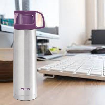 MILTON Glassy 1000 ml Flask(Pack of 1, Purple, Steel)