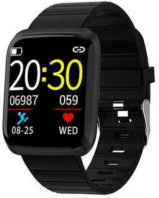Rewy 116 Pro Bluetooth smart band(Black Strap, Size : Free)