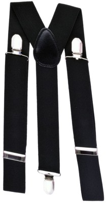 LOOPA Y  Back Suspenders for Men Black