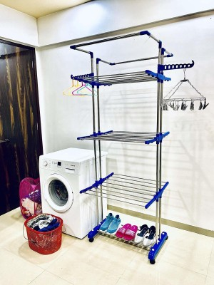 TNC Steel Floor Cloth Dryer Stand JB N00010(3 Tier)