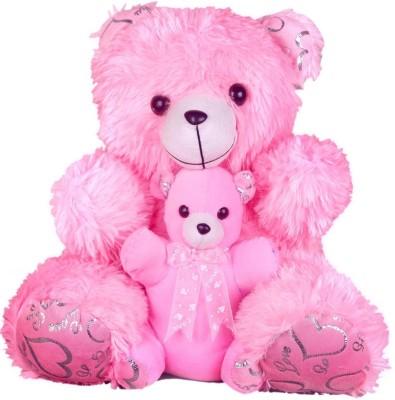 KeelBeel Cute Oink Teddy With Small Baby Teddy   18 inch Pink 04 KeelBeel Soft Toys