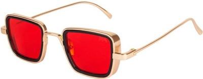 Elegante Rectangular Sunglasses(Red)