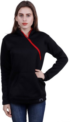 Kryptar Full Sleeve Self Design Women Sweatshirt