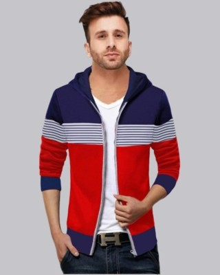 FastColors Full Sleeve Striped Men Sweatshirt