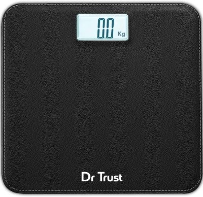 Dr. Trust (USA) Absolute Leather Digital Personal Electronic Weight Machine For Human Body Weighing Scale(Black)