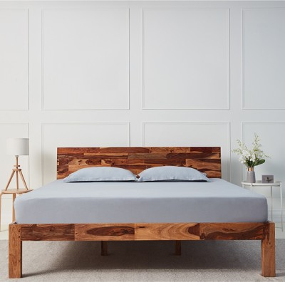 Wakefit Andromeda Sheesham Solid Wood King Bed(Finish Color -  Natural)