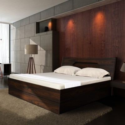 Zuari Florence Engineered Wood King Box Bed(Finish Color -  Oak Durance)