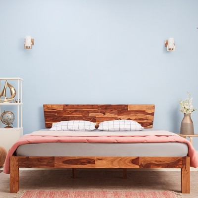 Wakefit Auriga Sheesham Solid Wood King Bed(Finish Color -  Natural)