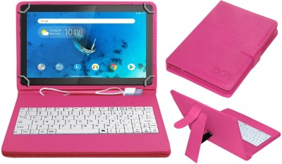 ACM Keyboard Case for Lenovo Tab M10 10.1 inch(Pink, Cases with Holder)