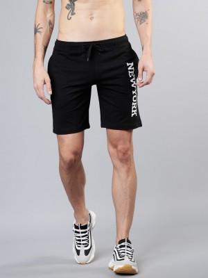 HIGHLANDER Printed Men Black Sports Shorts