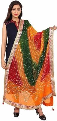 FHCreation Art Silk Self Design Women Dupatta