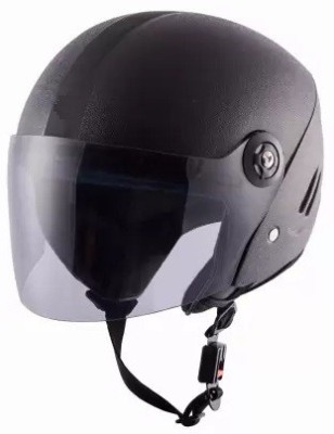 Grizzly High Quality O2 X-Pearl ISI Certified Dashing Motorbike Helmet(Black)