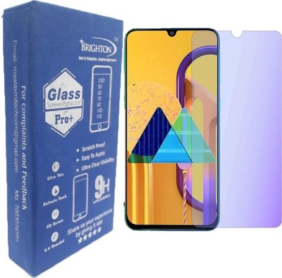 BRIGHTRON Edge To Edge Tempered Glass for BRIGHTRON Edge to Edge Tempered glass Screen Protector For Samsung Galaxy M30S- Anti Blueray Flexiable Fiber Glass Anti Shoch Hammer Proof Impossible Flim - TEMPERED GLASS Latest Version- (Pack of 2 ) M30S(Pack of 2)