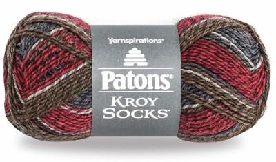 Patons Kroy Socks Yarn - (1) Super Fine Gauge - 1.75 oz - Grey Brown - For Crochet, Knitting & Crafting