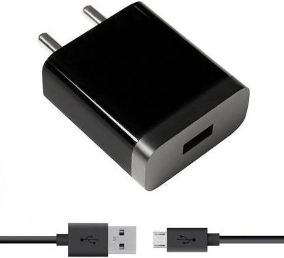 Speeqo Micro Charger Fast Charger 2.5A 2.5 A Mobile Charger with Detachable Cable Black, Cable Included