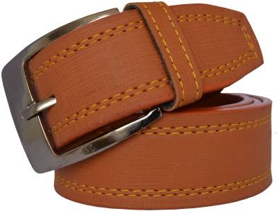 LOOPA Men Formal Tan Synthetic Belt