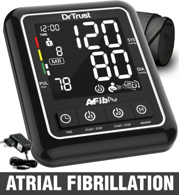Dr. Trust (USA) Atrial Fibrillation Automatic Dual Talking Digital Blood Pressure Monitor Machine Bp Monitor(Black)