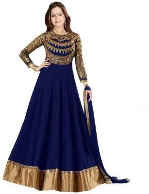 Aaru Fashion Georgette Self Design Salwar Suit Material Semi Stitched