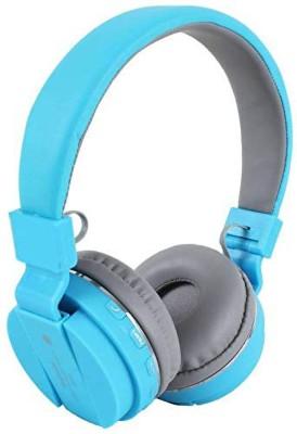 Nine9 Bluetooth Headphone with FM/SD Card Bluetooth Headset(Blue, On the Ear)