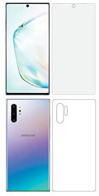 RUNEECH Front and Back Screen Guard for Samsung Galaxy Note 10 plus(Pack of 2)