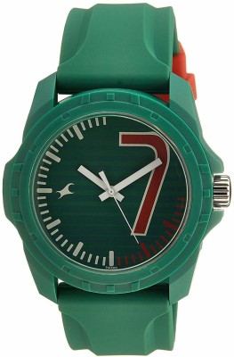 Fastrack 38018PP05CJ Tees Analog Green Dial Unisex Watch (38018PP05CJ)