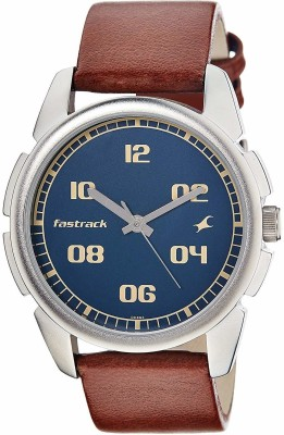 Fastrack NG3124SL02 Bare Basic Analog Watch   For Men Fastrack Wrist Watches