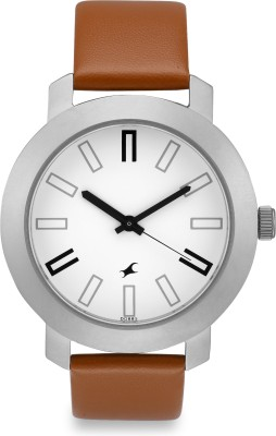 Fastrack NG3120SL01C Bare Basic Analog Watch   For Men Fastrack Wrist Watches