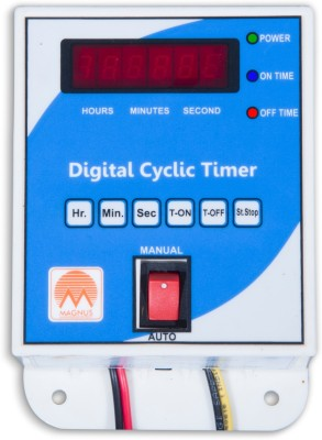 Magnus M-1122 Digital Cyclic Timer/Hydrophonics Timer Programmable Electronic Timer Switch(White)