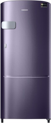 Samsung 192 L Direct Cool Single Door 4 Star  2020  Refrigerator Pebble Blue, RR20T1Y2XUT/HL Samsung Refrigerators