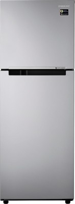 Samsung 253 L Frost Free Double Door 2 Star (2020) Refrigerator(Elective Silver, RT28T3032SE/HL)