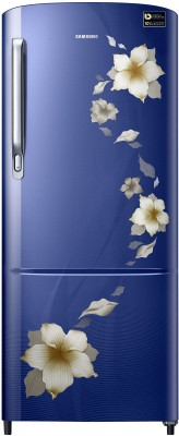 Samsung 192 L Direct Cool Single Door 3 Star (2020) Refrigerator(Star Flower Blue, RR20T172YU2/HL)