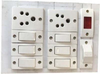 Fozti surge protector Wooden 2 Socket Extension Boards White