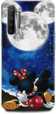 INDICRAFT Back Cover for Realme X2 Minnie Mouse, Fine pink Art, Mickey Mouse, Comic, cartoon, Disney, Moon(Multicolor, Hard Case)