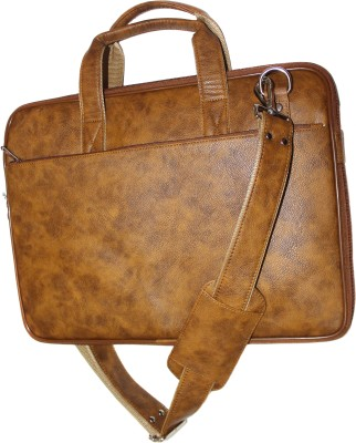 tegwin 17 inch Expandable Laptop Messenger Bag Tan, Brown