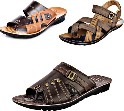 Calcados by Sandals Combo Pack of 3 Fancy Men Multicolor Flats