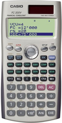 Casio FC-200V Financial Calculator(10 Digit)