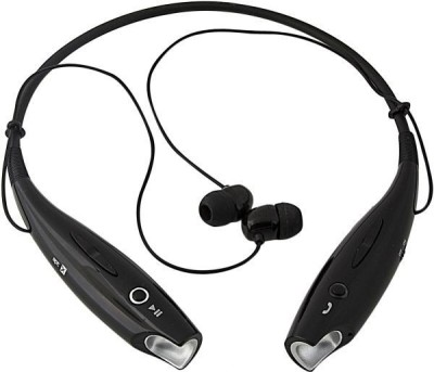 Brown Bee HBS-730 Wireless Magnet Bluetooth Headset Clear Sound With MIC Bluetooth Headset(Black, In the Ear)